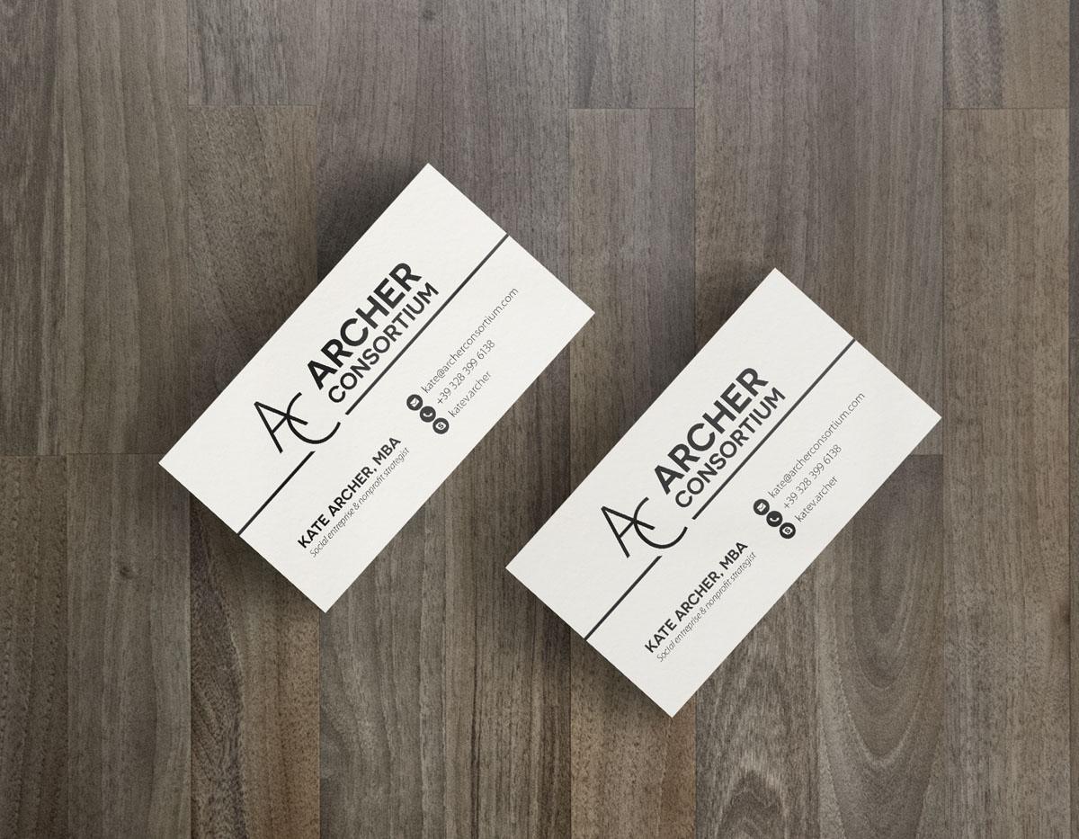 Archer Consortium business card design